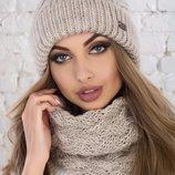 Набор шапка и шарф разные цвета