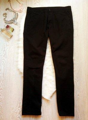 Черный плотные мужские брюки джинсы слим фит с прорезью на колене батал большой штаны Colin's