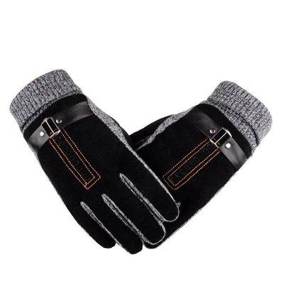 Перчатки очень теплые черные код 100