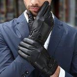 Перчатки мужские классические для сенсорных экранов чёрные код 101