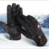 Перчатки ветрозащитные утепленные для сенсорных экранов LXY черные на замке анти-скольжение код 108