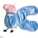 подушка- игрушка peppa pig.пеппа пиг Джорж 2 в1