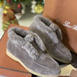 Женские теплые зимние на меху ботиночки Loro Piana