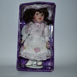 большая кукла фарфор porcelain doll east brokers and cons новая в коробке