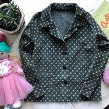 Вельветовый ретро пиджак Handmade примерно на 7-8 лет