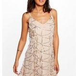 Платье с золотыми паетками