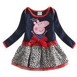 Платье tm nova леопардовый низ свинка Пеппа