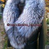 Куртка из натуральной кожи и шикарным воротником шаль
