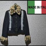Брендова куртка джинсова жіноча S Італія женская