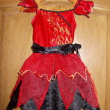 Продам карнавальное платье Огонек на 2-3 года рост 92-98см