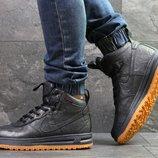 Nike Lunar Force 1 ботинки мужские зимние темно синие 6926