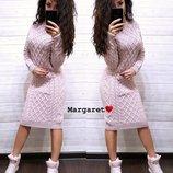 Платье под горло вязанное 42-44-46 размеры 7 расцветок