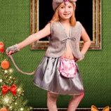 Новогодний костюм Мышка с юбкой