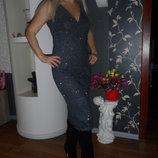 Суперское вечернее платье 44-46р,как новое.