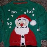 Расширенный Новогодний свитерок 6лет
