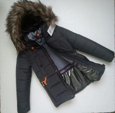 Зимняя куртка для мальчика ферари , табак 116-146 см