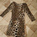 Платье туника тигр леопард