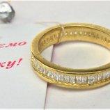 Кольцо перстень серебро 925 проба размер 16,5 позолота 2,53 гр.