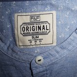 Мужская рубашка безрукавка голубая F&F L