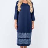 Женское платье большого размера прямого силуэта, р.52-60 цвета
