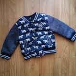 Стёганая куртка, курточка, бомбер F&F на 18-24 мес, 1,5-2 года