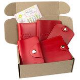 Подарочный набор 23 4 цв обложка на паспорт обложка на права картхолдер ключница