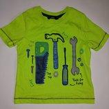 Яркая хлопковая футболка на мальчика 2-3 года,92-98 см