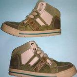 Ботинки полуботинки Clarks Eur 29 натуральная кожа и замша