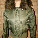 Двухсторонняя зимняя демисезонная курточка BAR р.S