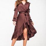 Женское платье 5138 в цвете коричневый 42-46