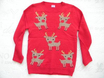 новогодний свитер F&F на 9-10 лет.