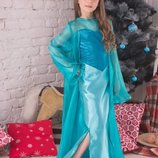 Карнавальный костюм Эльза Холодное Сердце 8-11 лет