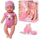 Кукла Пупс Baby Born BL023L аналог Беби Борн 8 функций, 9 аксессуаров