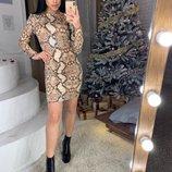 3 расцветки Платье с модным лео принтом С-Ка,м-Ка
