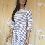 Платье из лёгкого трикотажа в полоску boohoo размер s
