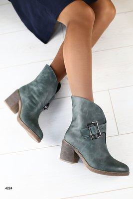 Зимние ботинки из натуральной кожи на овчине, код ks-4224