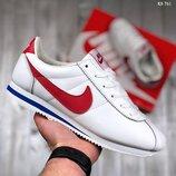 Оригинал. Бесплатная доставка. Кроссовки Nike Cortez бело-красные KS 761