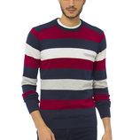 Мужской свитер LC Waikiki / Лс Вайкики в красную, белую и серую полоску