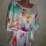 Блуза Цветы эффект 3D р.54