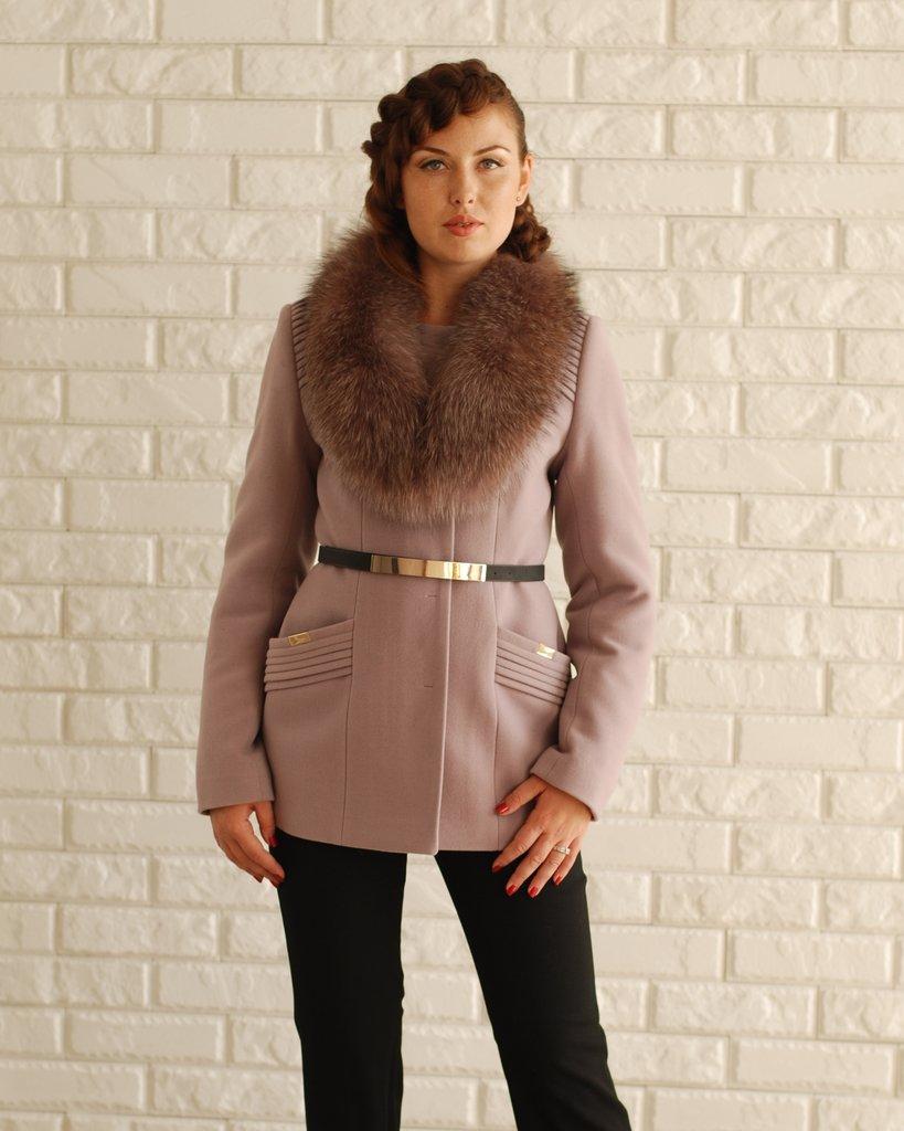 Пальто верх гладкое а низ меховой фото