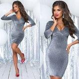 42,44,46 р 6 цветов платья люрекс на трикотажной основе