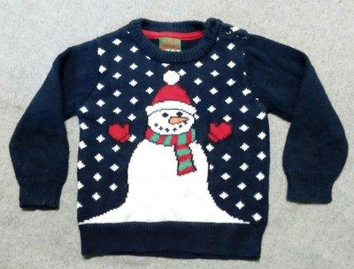 Милый, теплый свитерок со снеговиком. Бренд Rittle rebel