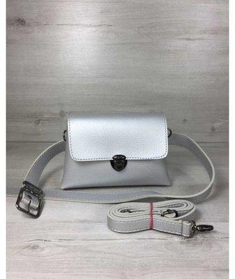 bbfb369bf8ef Женская сумка на пояс- клатч Белла серебряного цвета: 310 грн ...