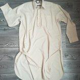 Рубашка мужская длинная 109 см, цвет бежевый