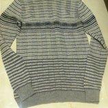 В наличии Теплый длинный серый шерстяной мужской свитер sela s-m. Sela