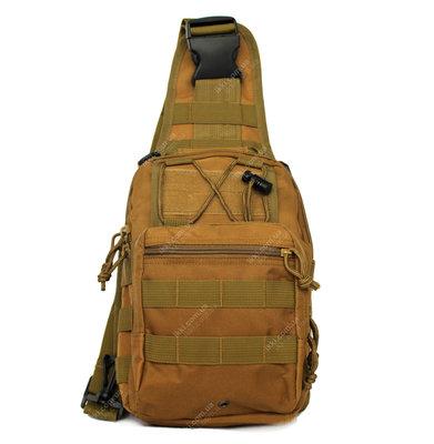 Эргономический однолямочный рюкзак - сумка водоотталкивающий 50413