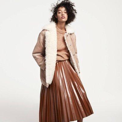 Юбка в складку H&M TREND XS коричневый
