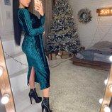 платье Ткань-Мраморный велюр плиссе