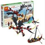 Конструктор Lele Ninja 31014 Сражение злого дракона, 329 дет