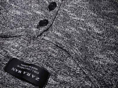 Мужская кофта реглан лонгслив меланж Zara Man L M